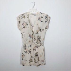Zara Trafaluc Floral Bird Mini Wrap Dress S
